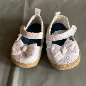 Just One You White Eyelet Sandals 0-3 Months